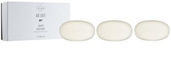 Scottish Fine Soaps Au Lait Luxury Set of Moisturizing Soap Bars