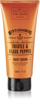 Scottish Fine Soaps Men's Grooming Thistle & Black Pepper peeling energizujący dla mężczyzn