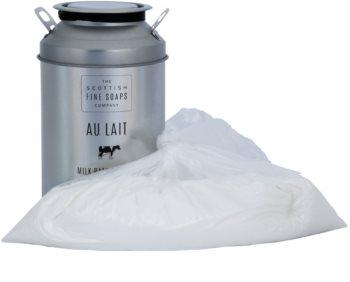 Scottish Fine Soaps Au Lait mlečni prah za kopel z kamilico
