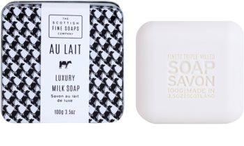Scottish Fine Soaps Au Lait luxusní mýdlo v plechové dóze