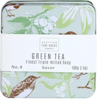 Scottish Fine Soaps Green Tea luxusní mýdlo v plechové dóze