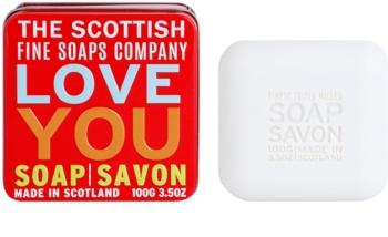 Scottish Fine Soaps Love You Sabão luxuoso em frasco de estanho