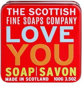 Scottish Fine Soaps Love You Bar Soap in a Tin Container