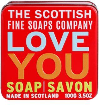 Scottish Fine Soaps Love You luxusné mydlo v plechovej dóze