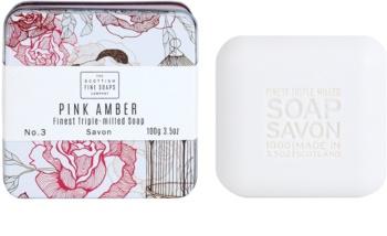Scottish Fine Soaps Pink Amber Luxusseife mit Blechetui