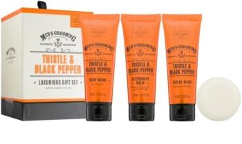 Scottish Fine Soaps Men's Grooming Thistle & Black Pepper Cosmetic Set I.