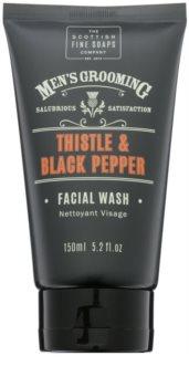 Scottish Fine Soaps Men's Grooming Thistle & Black Pepper gel limpiador para rostro