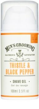 Scottish Fine Soaps Men's Grooming Thistle & Black Pepper Shaving Gel