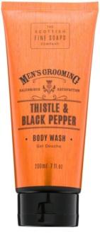 Scottish Fine Soaps Men's Grooming Thistle & Black Pepper gel de duche