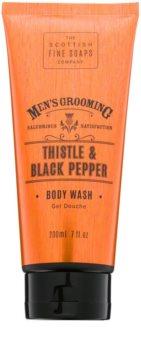 Scottish Fine Soaps Men's Grooming Thistle & Black Pepper gel de dus