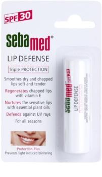Sebamed Face Care bálsamo regenerador para lábios  com filtros UVA e UVB