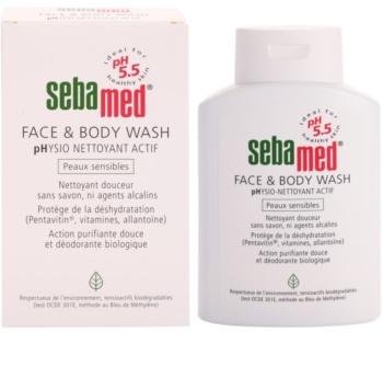 Sebamed Wash jemná umývacia emulzia na telo a tvár pre citlivú pokožku
