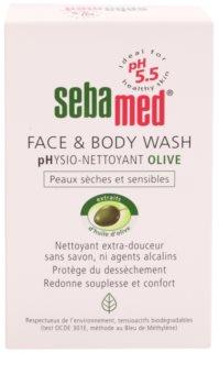 Sebamed Wash jemná umývacia emulzia na telo a tvár s olivovým olejom