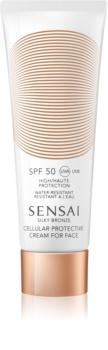 Sensai Silky Bronze крем проти зморшок для засмаги SPF 50