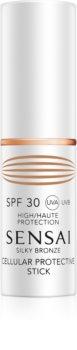 Sensai Silky Bronze stick protector pentru zonele sensibile SPF 30