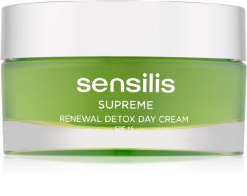 Sensilis Supreme Renewal Detox detoxikačný a regeneračný denný krém SPF 15