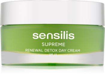 Sensilis Supreme Renewal Detox Entgiftende und regenerierende Tagescreme LSF 15