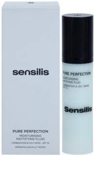 Sensilis Pure Perfection hydratisierendes Fluid mit Matt-Effekt