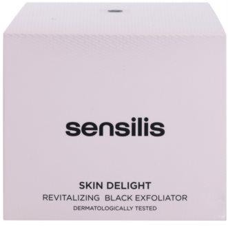 Sensilis Skin Delight revitalizační peeling s aktivním uhlím pro rozjasnění pleti
