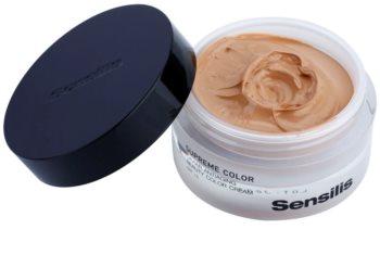 Sensilis Supreme Color tonizáló ránctalanító krém a bőrszín egységesítésére SPF15