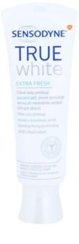 Sensodyne True White Extra Fresh fehérítő paszta fogkő és foltok ellen érzékeny fogakra