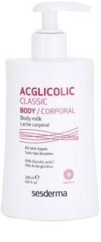 Sesderma Acglicolic Classic Body ujędrniające mleczko do ciała z efektem peelingu