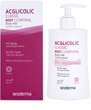 Sesderma Acglicolic Classic Body зміцнююче молочко для тіла з ефектом пілінгу