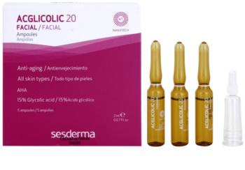 Sesderma Acglicolic 20 Facial sérum anti-rides effet exfoliant
