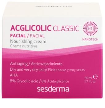 Sesderma Acglicolic Classic Facial výživný omlazující krém pro suchou až velmi suchou pleť