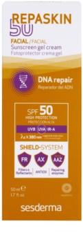 Sesderma Repaskin 50 сонцезахисний гель-крем для  обличчя SPF 50