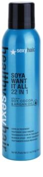 Sexy Hair Healthy ľahký bezoplachový kondicionér obsahujúi sóju, kakao a arganový olej