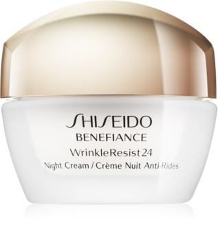 Shiseido Benefiance WrinkleResist24 нічний зволожуючий крем проти зморшок