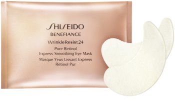 Shiseido Benefiance WrinkleResist24 Pure Retinol  Express Smoothing Eye Mask maska na oči s retinolom