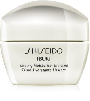 Shiseido Ibuki pomirjevalna in vlažilna krema za glajenje kože in zmanjšanje por