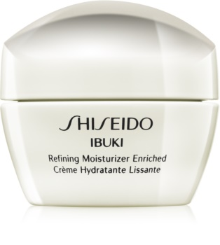Shiseido Ibuki Refining Moisturizer Enriched Kalmerende en Hydraterende Crème  voor Huid Egalisatie en Porien Minimalisatie
