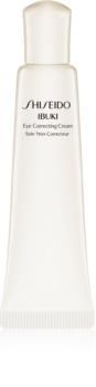 Shiseido Ibuki crema hidratante para contorno de ojos antiarrugas, antibolsas y antiojeras