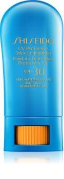 Shiseido Sun Foundation wodoodporny podkład ochronny w sztyfcie SPF30