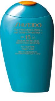 Shiseido Sun Care Sun Protection Lotion naptej arca és testre SPF 15