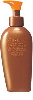 Shiseido Sun Care Self-Tanning önbarnító zselé testre és arcra