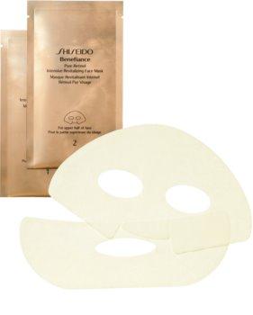 Shiseido Benefiance Pure Retinol Intensive Revitalizing Face Mask intenzív revitalizáló maszk a fiatalos kinézetért
