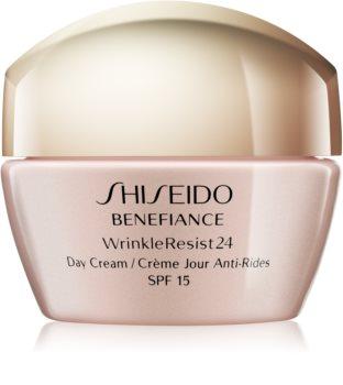 Shiseido Benefiance WrinkleResist24 Day Cream crema de día  antiarrugas  SPF 15