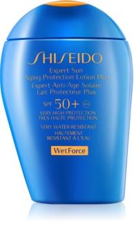 Shiseido Sun Protection leite solar de rosto e corpo SPF50+