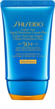 Shiseido Sun Care Expert Sun Aging Protection Cream WetForce creme solar facial SPF 50+