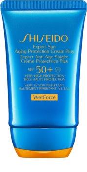 Shiseido Sun Care Expert Sun Aging Protection Cream WetForce krema za sončenje za obraz SPF 50+