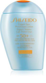 Shiseido Sun Care Expert Sun Protection Lotion WetForce SPF50+ For Sensitive Skin & Children voděodolný krém na opalování SPF 50+