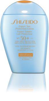 Shiseido Sun Care Expert Sun Protection Lotion WetForce vodeodolný krém na opaľovanie SPF 50+