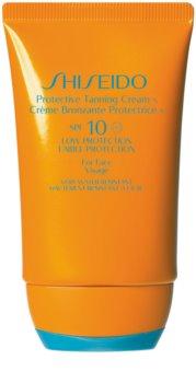 Shiseido Sun Care Protective Tanning Cream krema za sončenje za obraz SPF 10