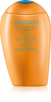Shiseido Sun Care Tanning Emulsion SPF6 Tanning Emulsion for Face and Body SPF 6