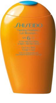Shiseido Sun Care Tanning Emulsion lotiune pentru bronzat SPF 6