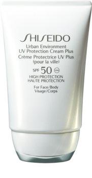 Shiseido Sun Care Urban Environment UV Protection Cream Plus loção hidratante protetora SPF 50